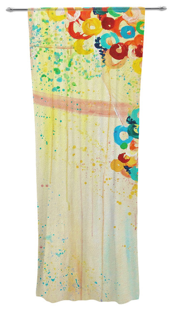 "Ebi Emporium ""summer In Bloom"" Decorative Sheer Curtain."