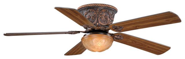 "Corazon 52"" Flushmount Ceiling Fan, Aged Bronze"