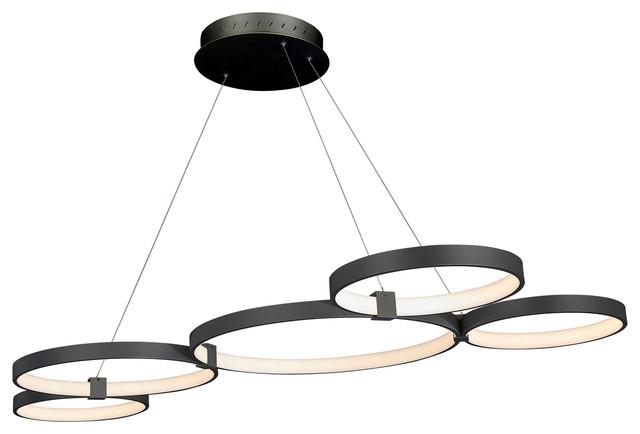 Capella LED Chandelier, Black