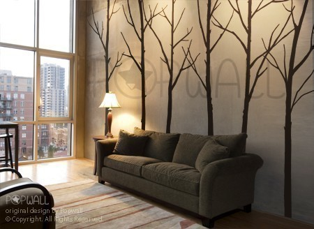 Art Wall Decals Wall Stickers Tree Decal Winter Trees by Nou Wall