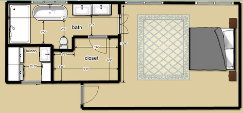 Master Bath/closet/laundry Floorplan Help Needed!