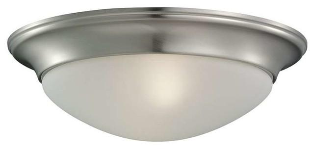Sea Gull Lighting 44236 962 2 Light Brushed Nickel: Sea Gull 79434BLE-05, Nash Flush Mount Light