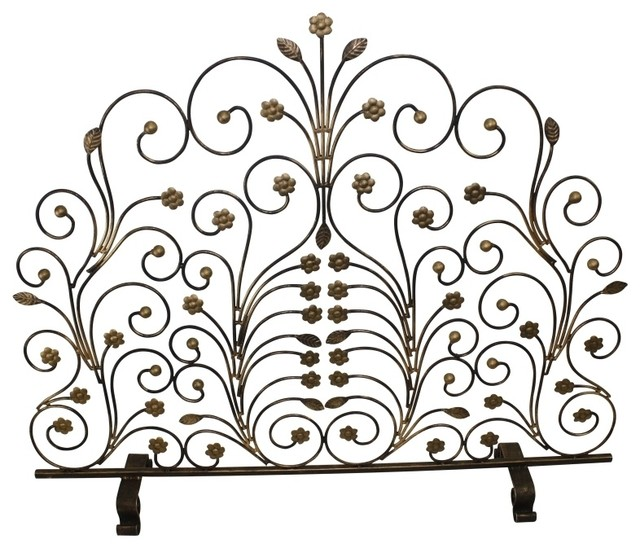 Fire Screen With Leaf And Floret Accents By Dr Livingstone I Presume.