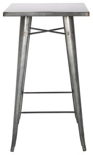 Chintaly Galvanized Steel Bar Table - Indoor Pub And Bistro Tables ...