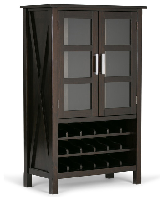 Kitchener High Storage Wine Rack Transitional Wine Racks By