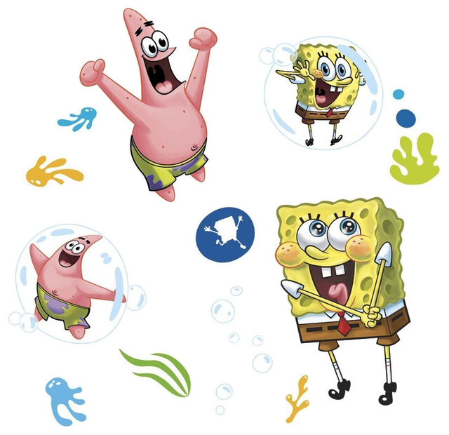 Spongebob Squarepants Stickers Piece Bubbly Fun Decals - Spongebob room decals