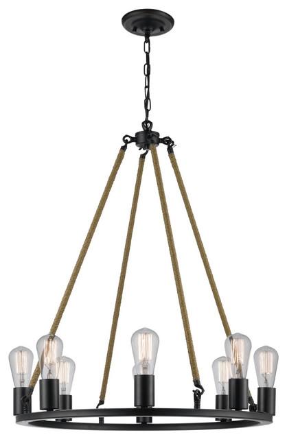 Myrcella 8 Light Twine Wred Vintage Style Chandelier Dark Bronze