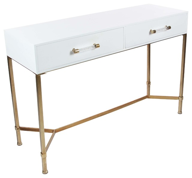 "Gwg Outlet Metal Wooden Console Table, 47""x31""."