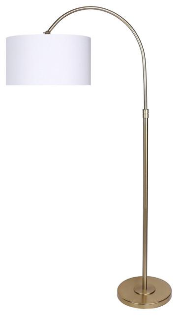 "63.5"" Modern Gold Plated Arc Floor Lamp"