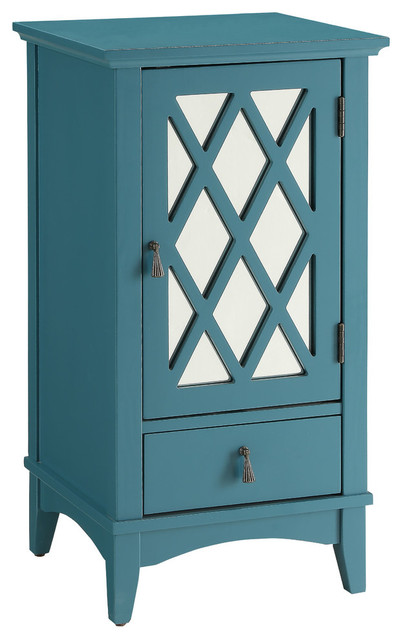 ACME Ceara Floor Cabinet, Teal contemporary-accent-chests-and-cabinets