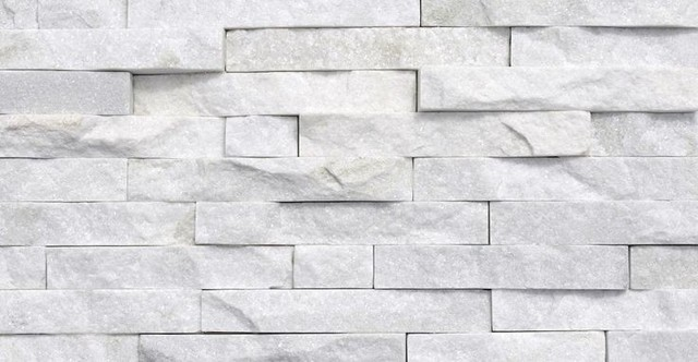 Ledger Panel Natural Quartzite Wall Tile Arctic White