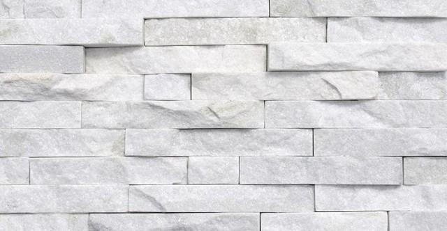 Ledger Panel Natural Quartzite Wall Tile Arctic White Sample Transitional And