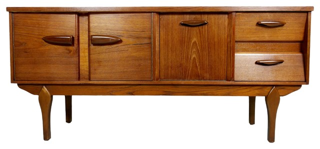 Consigned Mid Century Modern European Credenza Or Media Cabinet