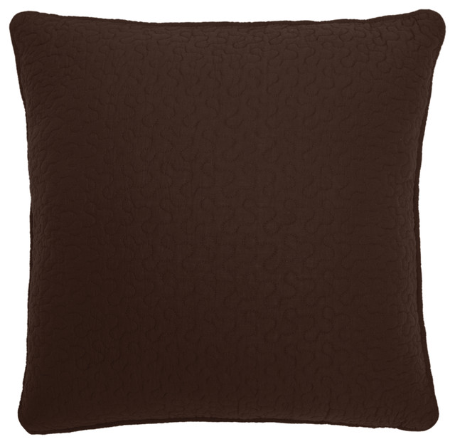 Cabin In The Woods Optional Quilted Brown Euro Sham