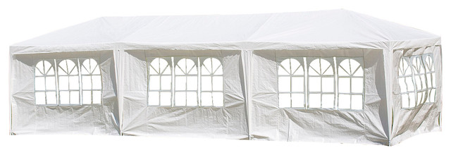 10&x27;x30&x27;canopy Party Wedding Outdoor Tent Gazebo Pavilion Cater Events, 5 Walls.
