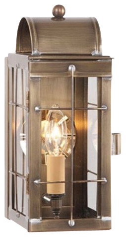 Handcrafted Outdoor Colonial Lantern Weathered Br