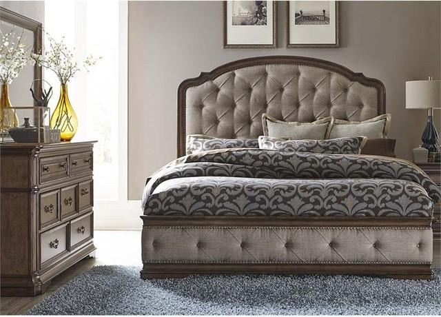 Amelia 3-Piece Upholstered Bedroom Set - Traditional - Bedroom ...