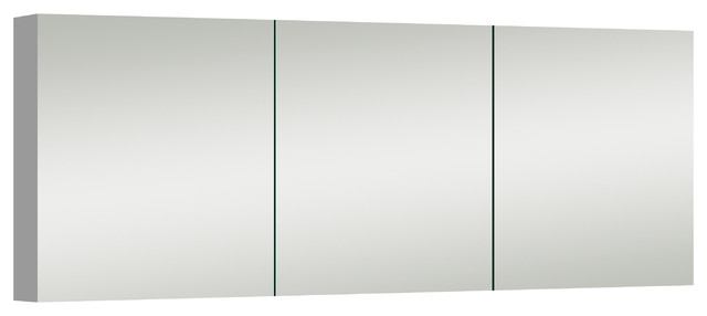 "Strood Contemporary Wall-Mounted Medicine Cabinet With Magnifying Mirror, 60""."