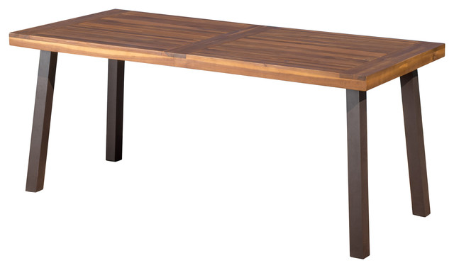 Daria Natural Stained Acacia Wood Dining Table contemporary outdoor dining  tables. Daria Natural Stained Acacia Wood Dining Table   Contemporary