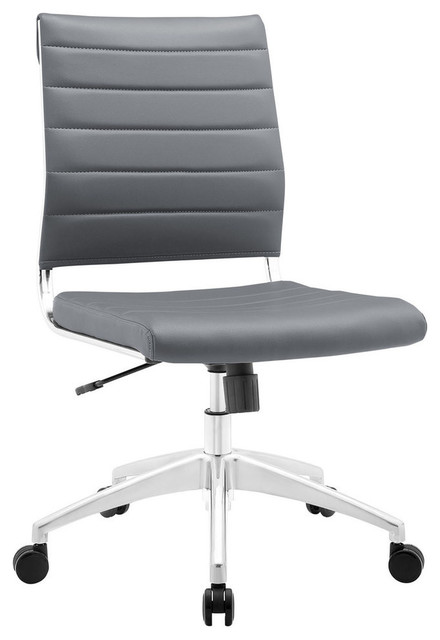 Modway Jive Armless Mid Back Office Chair Eei-1525-Gry.