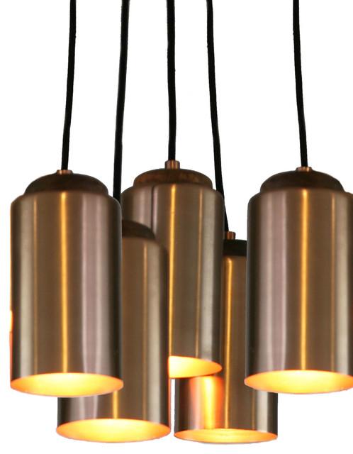 Multi Pendant Light Copper 5 Pendants