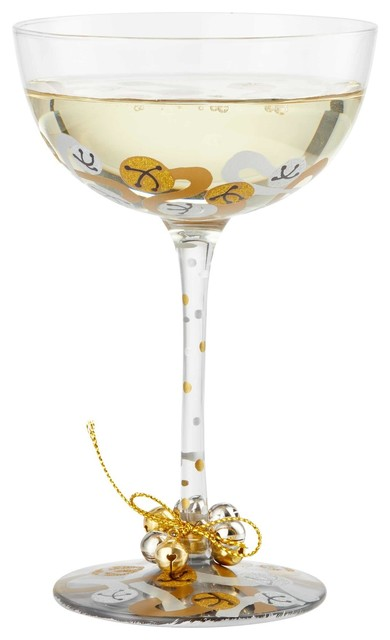 Jingle Bells Coupe Cocktail Glass By Lolita Contemporary