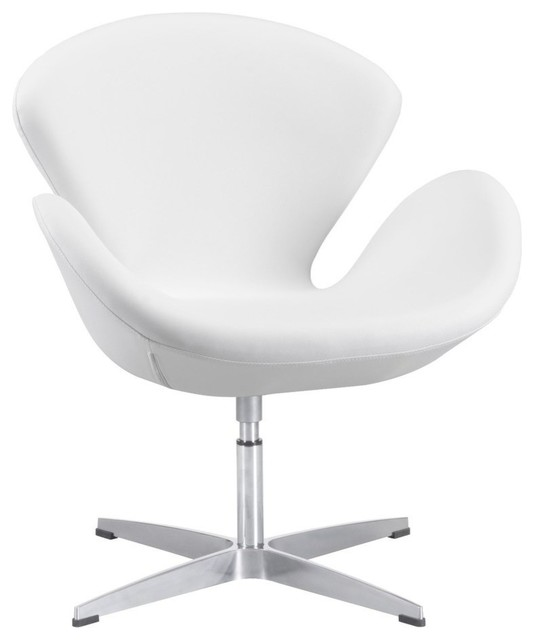 Modern White Chair zuo modern pori occasional chair, carnelian red, 500309