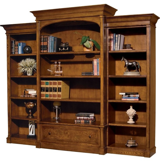 Hekman Urban Executive 3-Piece Bookcase, Urban Ash Burl.