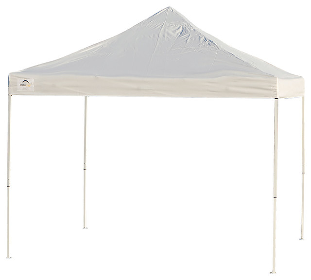 Shelterlogic Pop-Up Canopy Truss Top Straight Leg 10&x27;x10&x27; With Roller Bag White.
