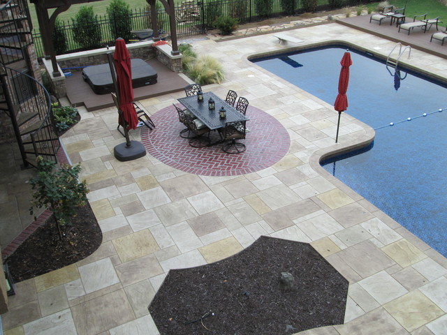 Elegant Rustic Stamped Concrete Patios, Pool Decks And Hardscapes Rustic