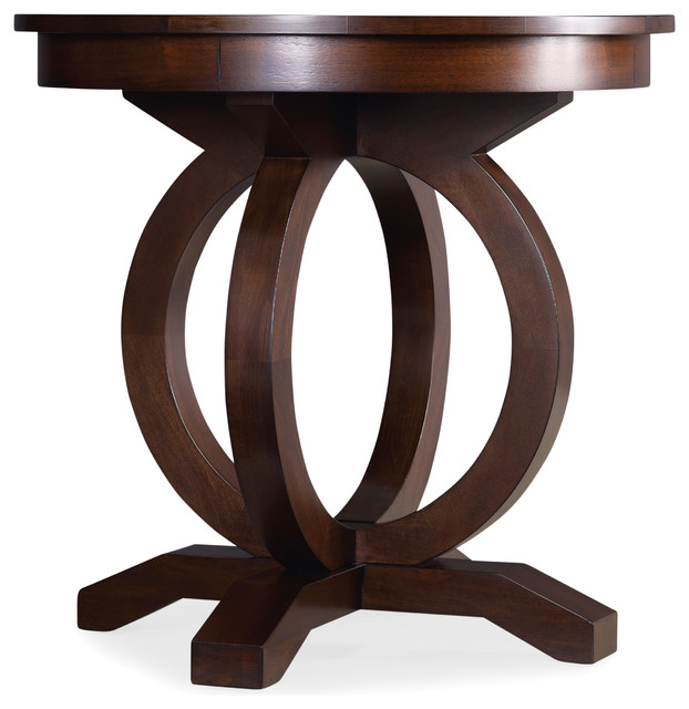 Archibald Round End Table Transitional Side Tables And End Tables