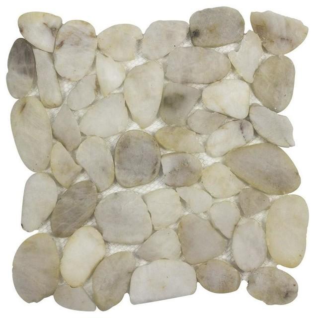 MTO0342 Modern Pebble White Natural Stone River Rocks Mosaic Tile on natural rock art, natural rock paint, natural rock patio designs, natural rock architecture, natural rock bathtub, natural rock fire pit designs, stacked rock bathroom designs, natural rock sinks, natural rock decor,