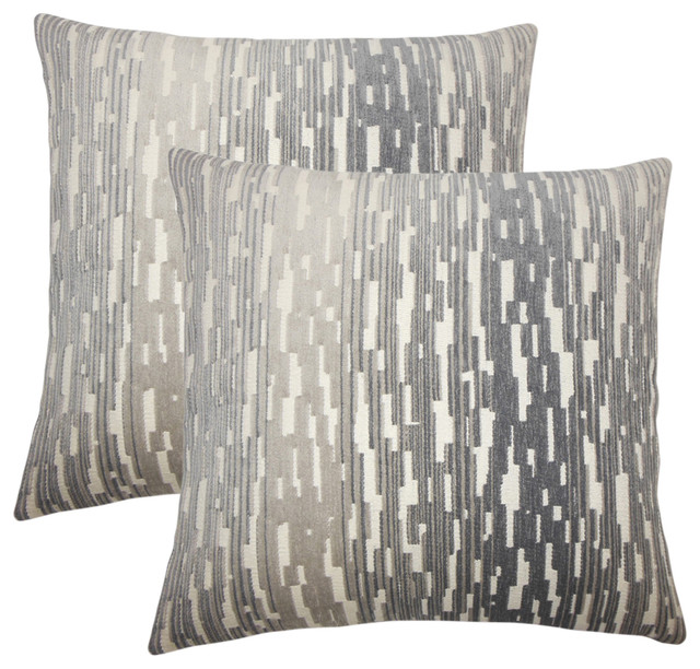 Yohance Geometric Throw Pillows, Birch, Set Of 2.