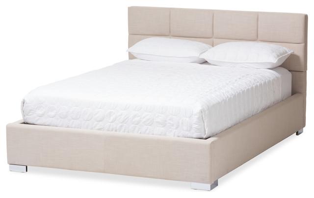 55f96d44edd Sophie Fabric Upholstered Platform Bed - Contemporary - Platform Beds - by Baxton  Studio