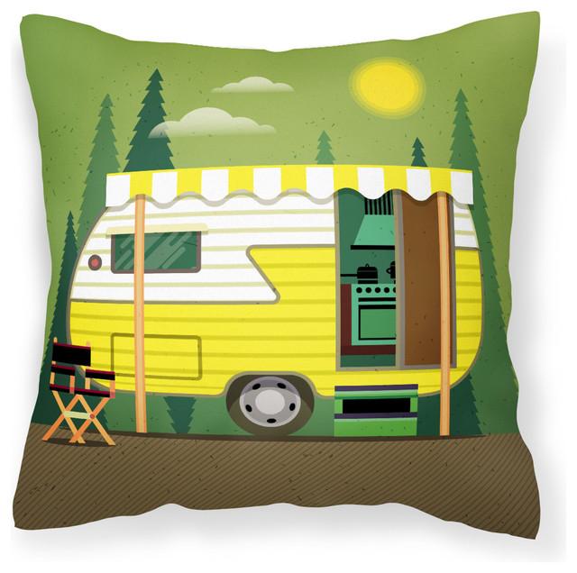 Greatest Adventure Retro Camper Fabric Decorative Pillow Bb5478pw1818