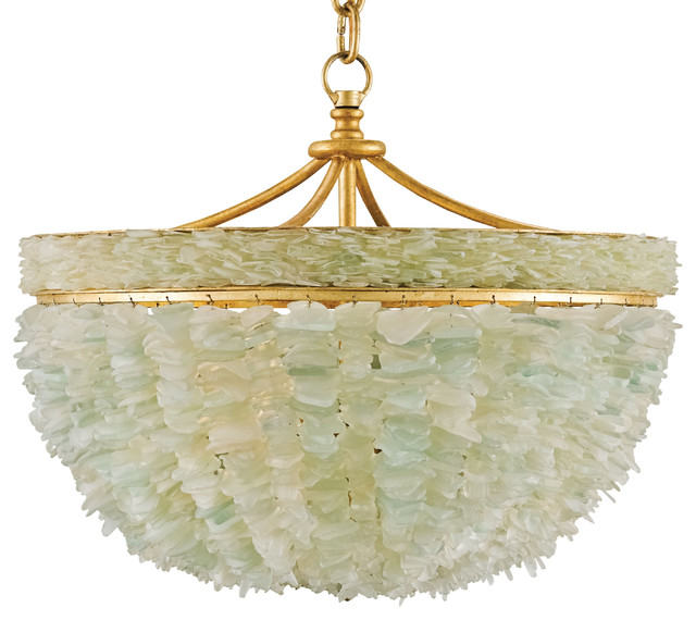 Coastal beach aqua sea glass crown 6 light chandelier beach style mira coastal beach marine sea glass gold 3 light bowl chandelier mozeypictures Image collections