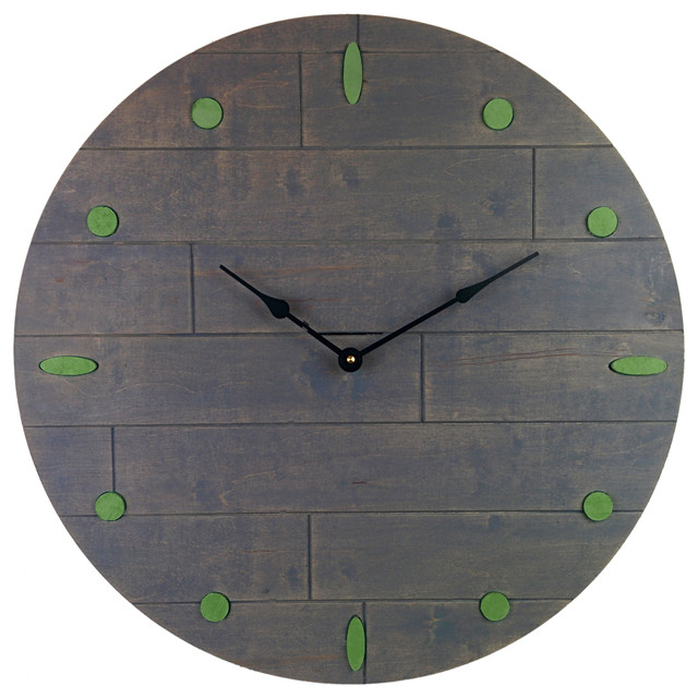 large rustic gray clock blue numeral marks wall clocks by cray cray supply