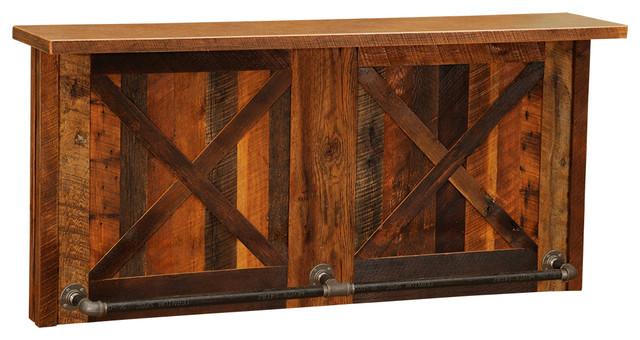 Barnwood Bar 7u0027 Laminate Bar Tops Refrigerator Opening On Left Standard  Cabinet Wine And