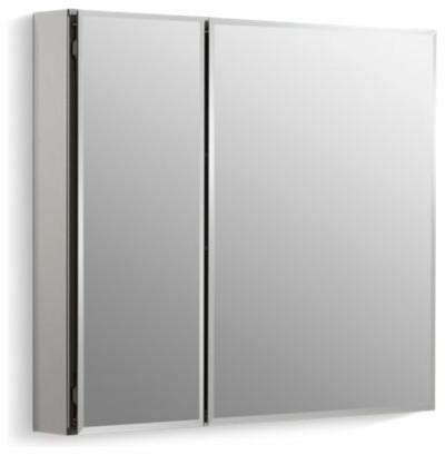"""Kohler 30"""" W X 26"""" H 2-Door Medicine Cabinet w/ Mirrored Doors, Beveled Edges"""