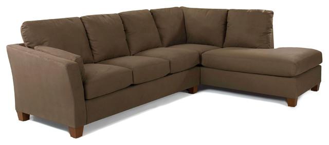 Sienna queen chaise sectional sleeper sofa libre earth for Transitional sectional sofa sleeper