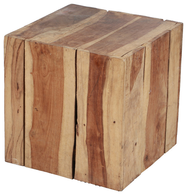Devoro Natural Mango Wood Accent Table.
