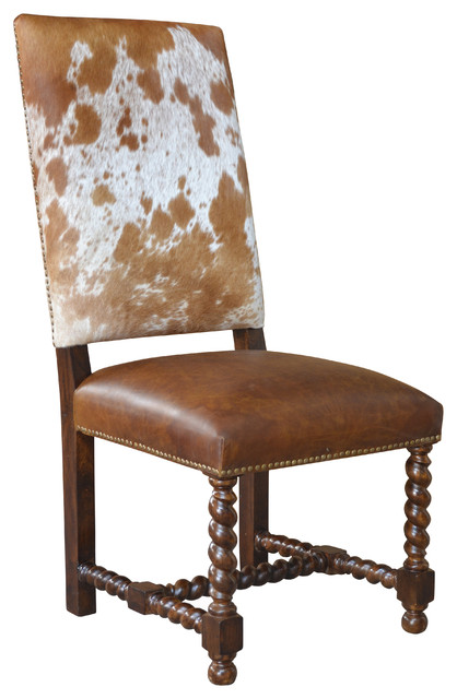 Magnificent Barley Twist Cowhide Dining Chair Set Of 8 Creativecarmelina Interior Chair Design Creativecarmelinacom