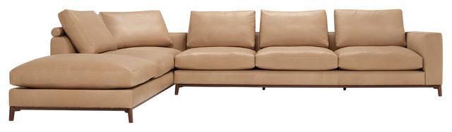 Amura Dorsey 6-Seater Corner Sofa, Sand.