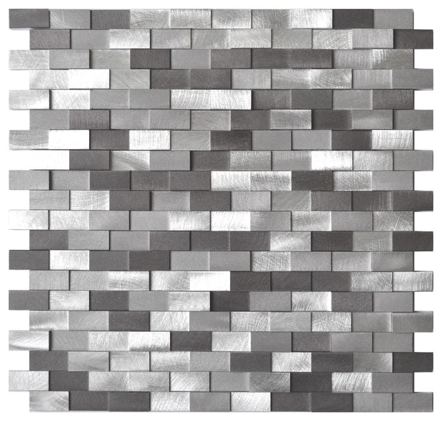 3D Raised Brick Aluminum Mosaic Tile Contemporary Mosaic Tile