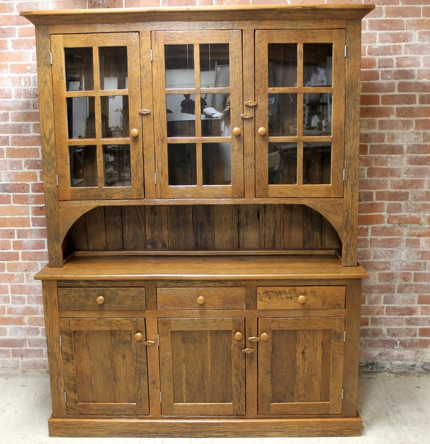 Reclaimed Solid Wood Hutch - Rustic - China Cabinets And Hutches - Boston - by LakeandMountainHome