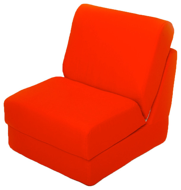pillow chair. teen chair with pillow orange canvas contemporary-sleeper-chairs i