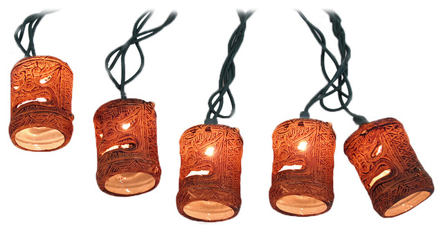 Friki Tiki Natural String Light Set, 10-Count - Outdoor Rope And String Lights - by Zeckos