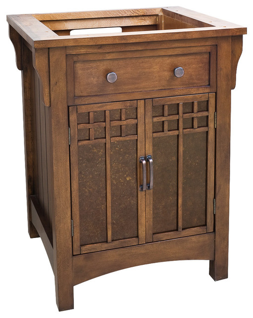 """Westcott Wright Vanity With Glass Inserts, 28"""", Without Top."""