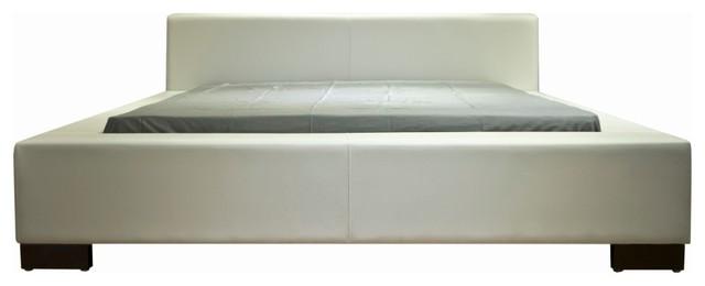 Greatime Eatern King White Platform Bed.