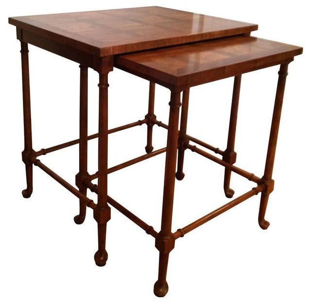 Baker Nesting Tables   $1,500 Est. Retail   $400 On Chairish.com  Transitional